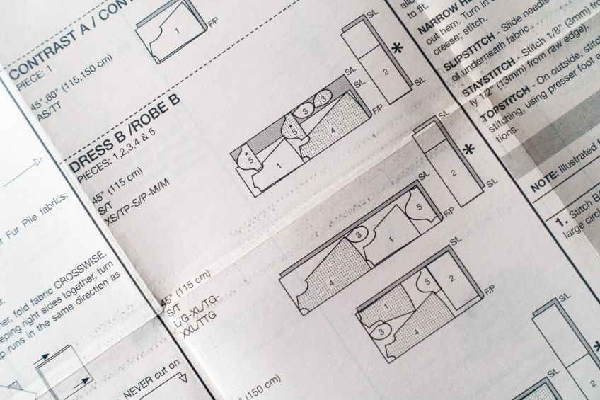 How to Layout a Sewing Pattern